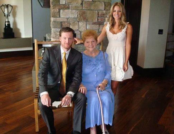Grandma Earnhardt, Dale Earnhardt Jr and Amy Reimann-Earnhardt