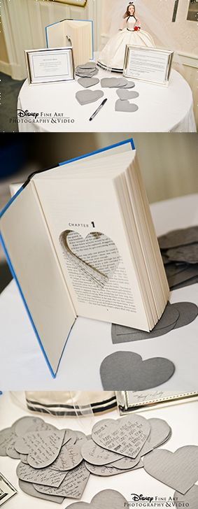 A unique way for your guests to share a page in your love story #wedding #guestbook