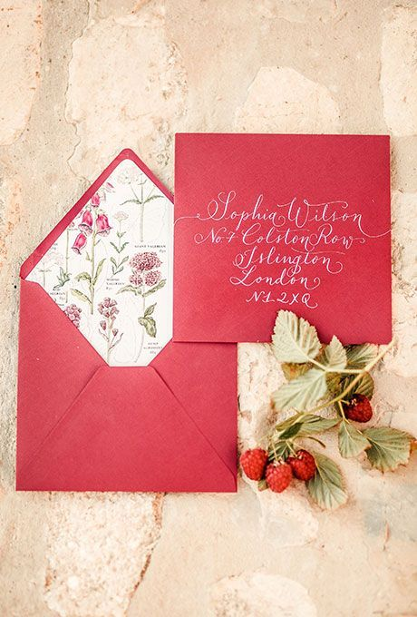 Strawberry Invitation Ideas for Summer Weddings-1