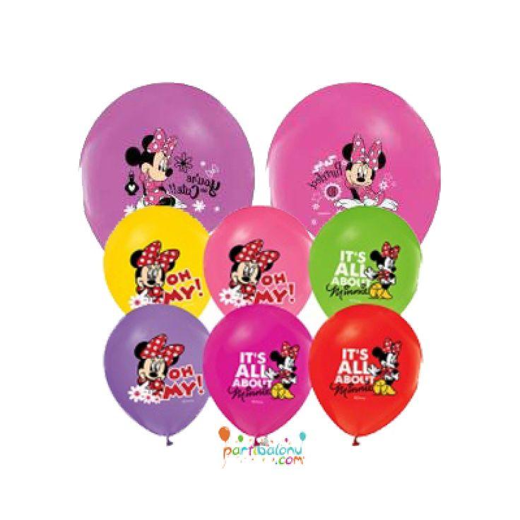Minnie Mouse Balon (100 Adet)  Mini Mouse Balon Ürün Özellikleri  Ürün Paketinde 100 Adet Minnie Mouse Baskılı Balon bulunuyor. Lateks balonlar renkli baskı ve kalitelidir. Minnie Mouse temalı balonlar karışık renkte gönderilir. Doğum Günü kutlaması yapılacak oda da veya parti süslemelerinde kullanılır.