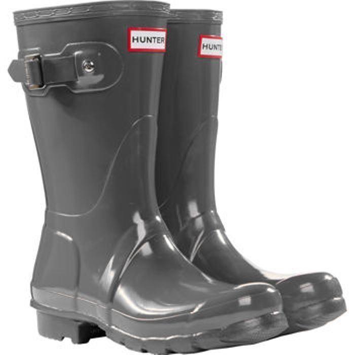Hunter Womens Gray Grey Rain Boots Original Short Gloss WFS1000RGL CHEAP #Hunter #Rainboots $114.99