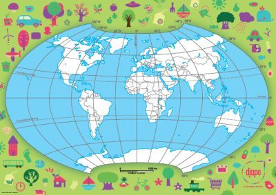 Werken met de wereldkaart - Djapo