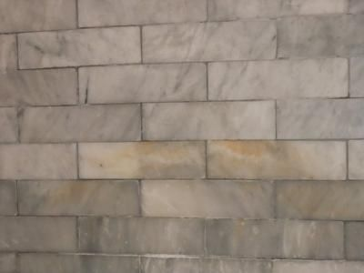 Yellow Brown Stains In Marble Showers Amp Floor Tile