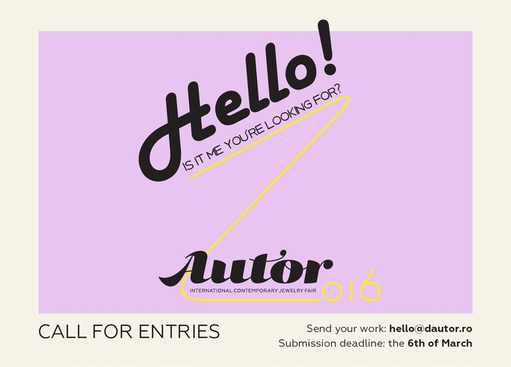 AUTOR 2016 call for entries >> enter your newest collections NOW! #autorfair #jewelry #jewellery #contemporaryjewelry #design