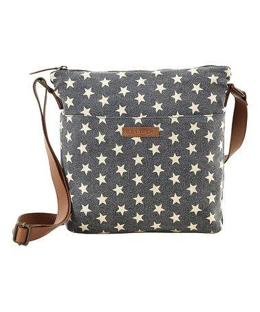 Charcoal Raven Explorer Crossbody Bag #zulily #zulilyfinds