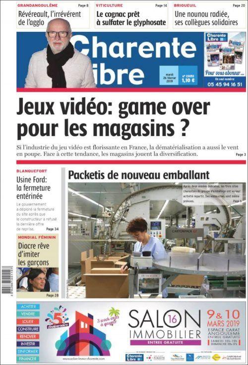 Telecharger Charente Libre 26 Fevrier 2019 En Format Pdf