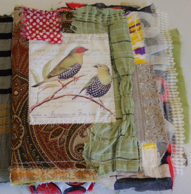 Crazy Quilt Fabric Journal 4 Fabric Art Journals