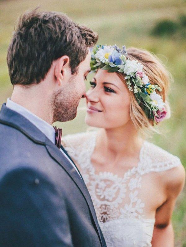 Large floral wedding crown
