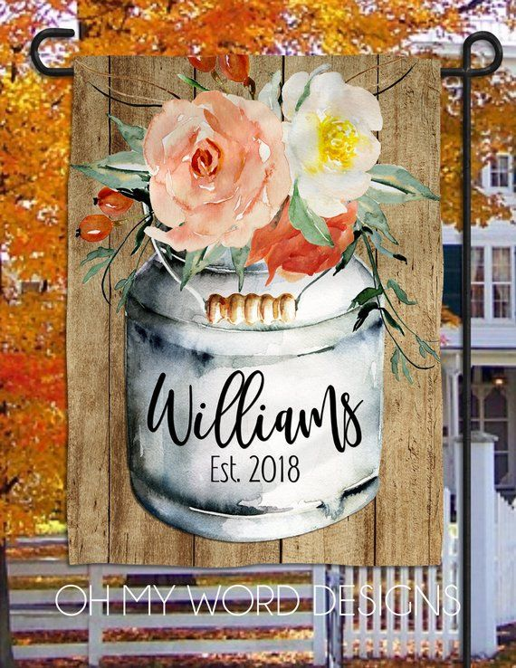 Personalized Garden Flag Welcome Fall Garden Flag Welcome Flag Farmhouse Garden Flag Harvest Flag Fa Personalized Garden Flag Farmhouse Decor Garden Flag Stand