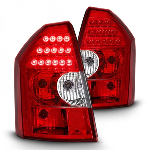 2005-2007 300C LED Tail Lights w/ LED Signal Function - Red Clear | Chrysler 300 | Tail lights