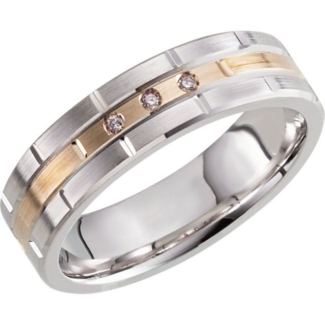 Awesome Men us Wedding Band White and Yellow Gold