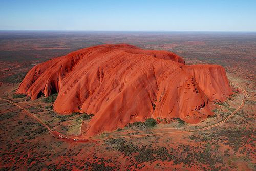 Ayers Rock / Uluru in the middle of Australia