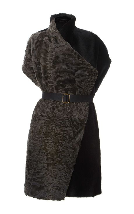 Shearling Astrakhan Cape by Inès & Maréchal for Preorder on Moda Operandi