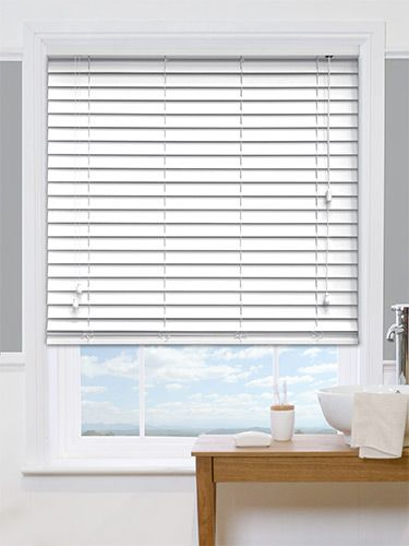 Classics Simply White Faux Wood Blind - 50mm Slat from Blinds 2go