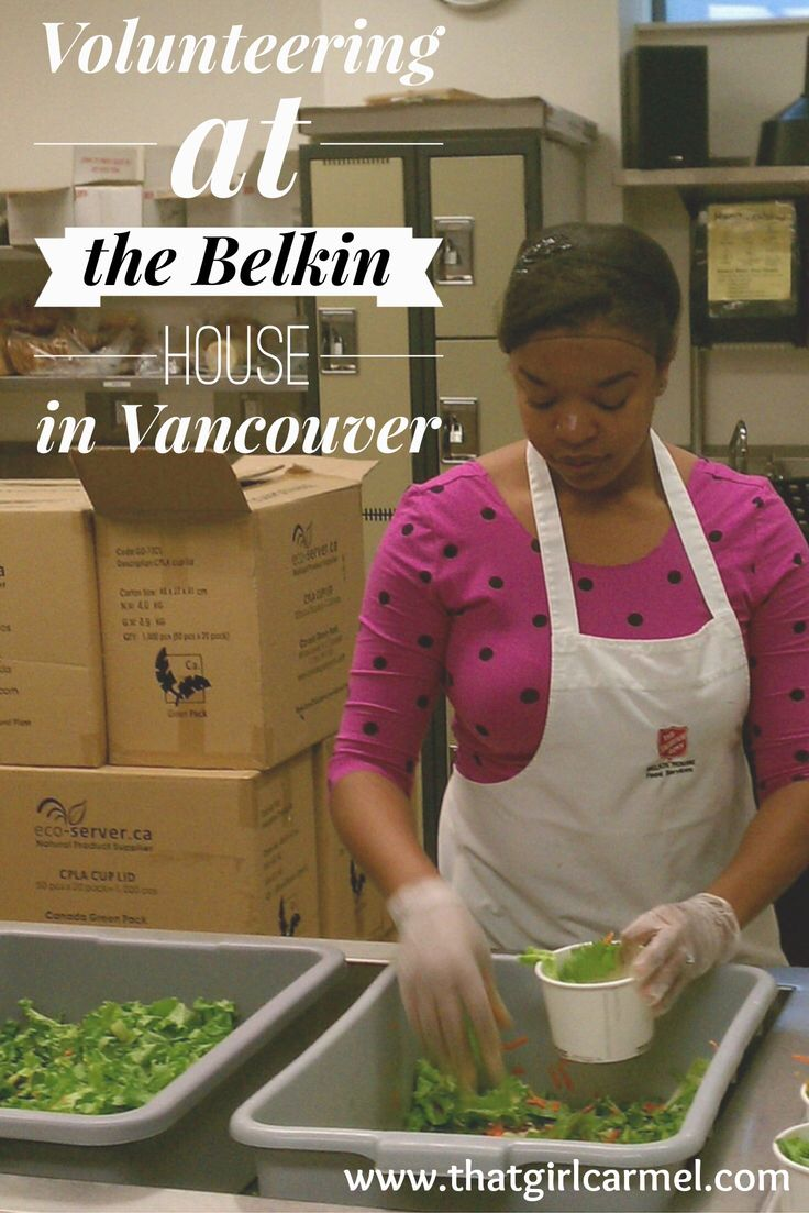 Volunteer travel at the Salvation Army's Belkin House in Vancouver, BC