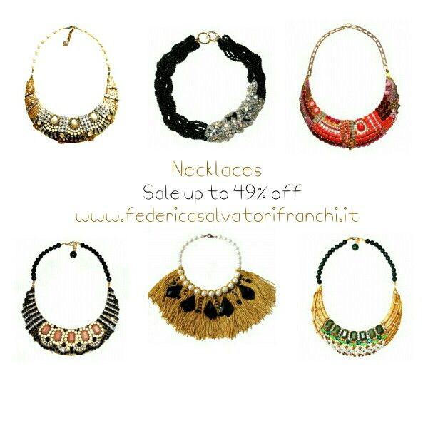 Necklaces!  Sale up to 49% off!  Discover www.federicasalvatorifranchi.it! ❤