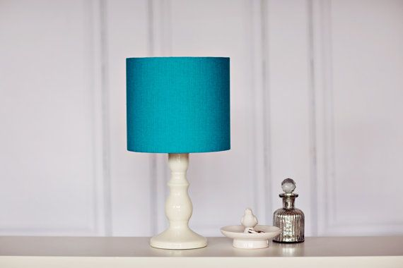 Turquoise lamp shade, teal lamp shade, table lamp, light shade, bedroom…