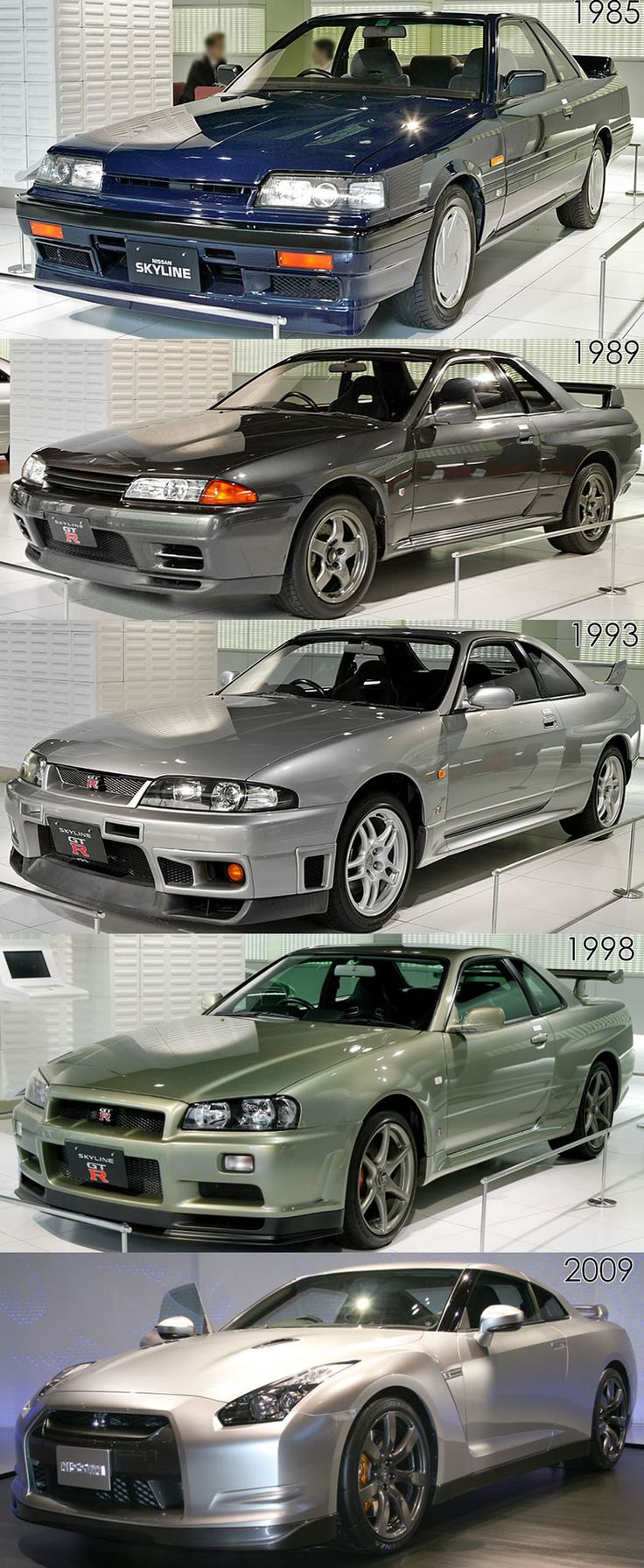 Nissans Skyline family tree. I'd own any and all of them! These are at the top of the Automotive food chain, if you ask me.