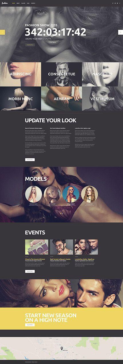 Fashion #wordpresstheme wordpress website template