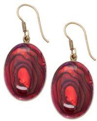 Alchemia Red Abalone Earrings