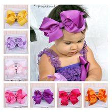 Twdvs recién nacido headwear grandes arcos venda de la flor pelo elástico vendas del arco del pelo band niños pelo accesorios w-017(China (Mainland))