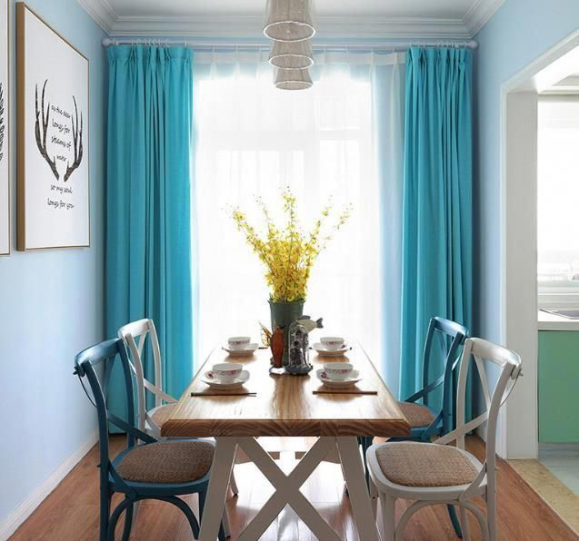 Beautiful Tiffany Turquoise Blue Curtains Living Room Drapes
