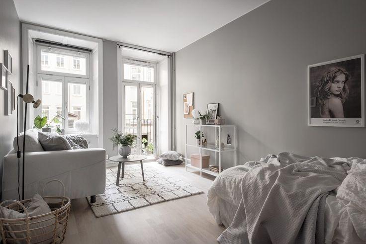 A Serene Grey & White Studio Apartment - Gravity Home