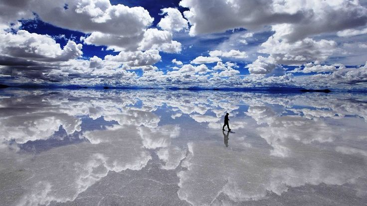 Salar de Uyuni is actually the world's largest salt flat at 10,582 square…