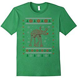 Men's Galaxy Star Reindeer Funny Ugly Christmas Sweater T-Shirt XL Grass