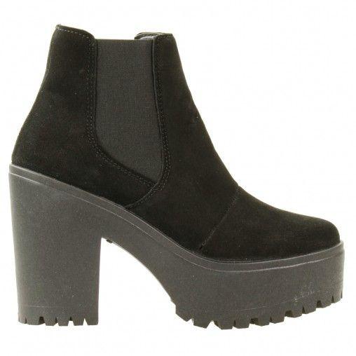Chelsea-Boots mit Plateau-Sohle