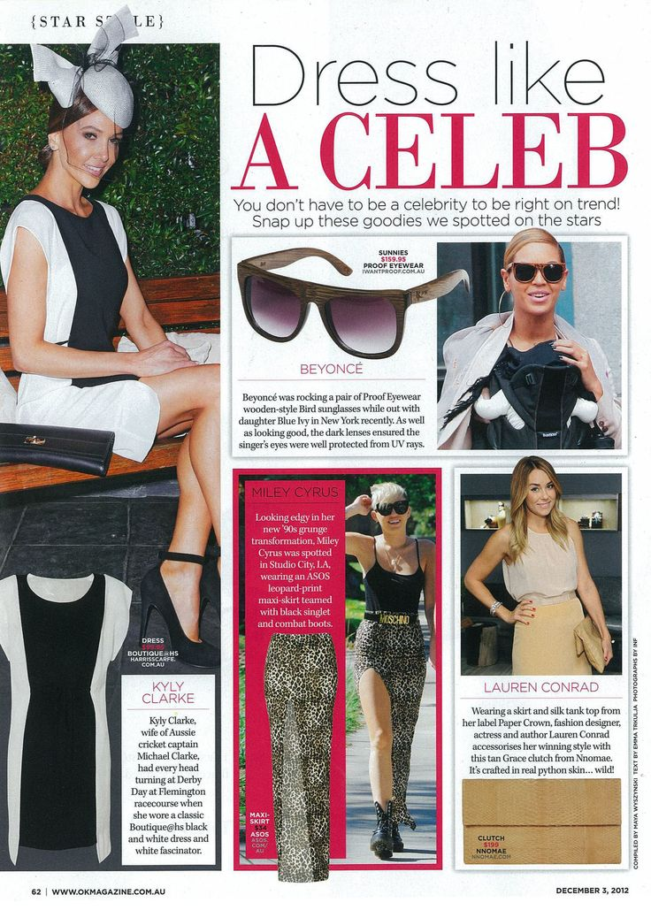 "OK Mag ""Dress like a Celeb"""