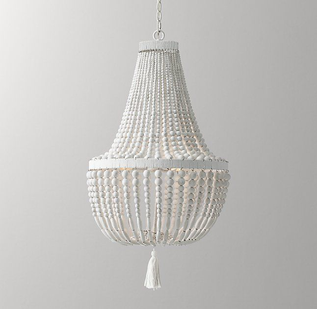 Dauphine Wood Empire Chandelier - Weathered White