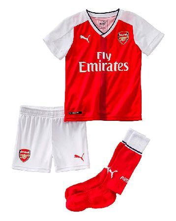 Arsenal Puma Boys Arsenal Football Club Mini Kit Because youre never too young to show off that Gunner pride. This Arsenal Football Club mini kit includes a shirt, pants and socks, and features styling similar to the teams on-pitch kit for 2016-17. http://www.MightGet.com/january-2017-13/arsenal-puma-boys-arsenal-football-club-mini-kit.asp