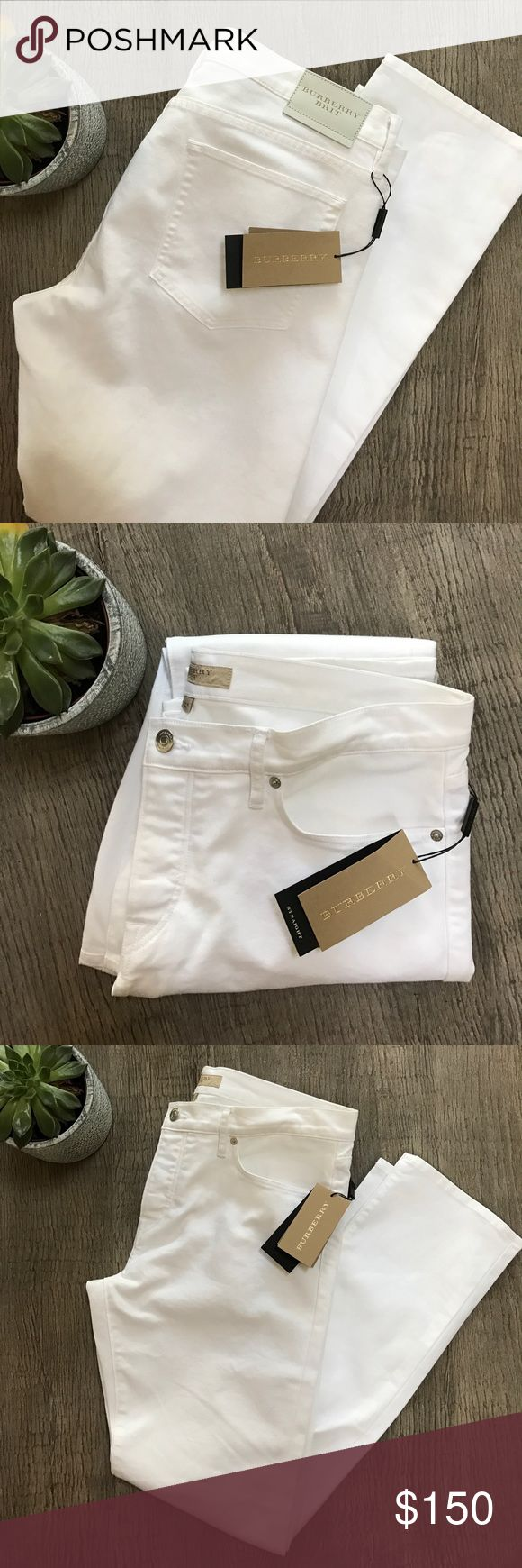 BURBERRY BRIT men's white jeans size W36 L32 NWT BURBERRY BRIT men's white jeans size W36 L32 NWT Burberry Jeans Straight
