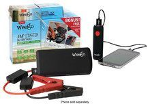 Weego - JS12 Jump Starter Battery Pack+ with Included Cell Phone Charger - Black, JSPROMO-1