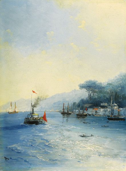 Shipping on the Bosphorus, Constantinople by Ivan Konstantinovich Aivazovsky | Art Posters & Prints