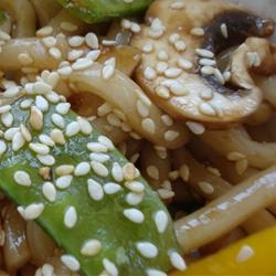 Sesame Udon Noodles | How To Live Well | Pinterest