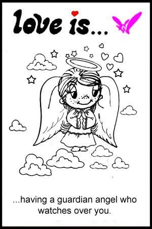 love is… not losing a loved one but gaining a guardian angel | Love is... Comics by Kim Casali