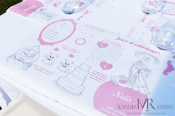 Set de table enfant avec jeux et coloriages, décoratif et pratique !