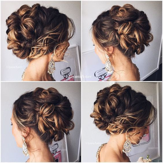 wedding updo hairstyle via ulyana aster / http://www.himisspuff.com/beautiful-wedding-updo-hairstyles/14/