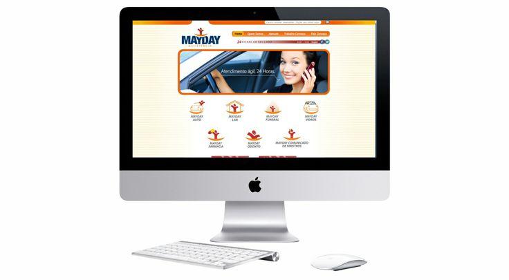Site criado para o serviço MAYDAY da empresa QG CONTACT CENTER.