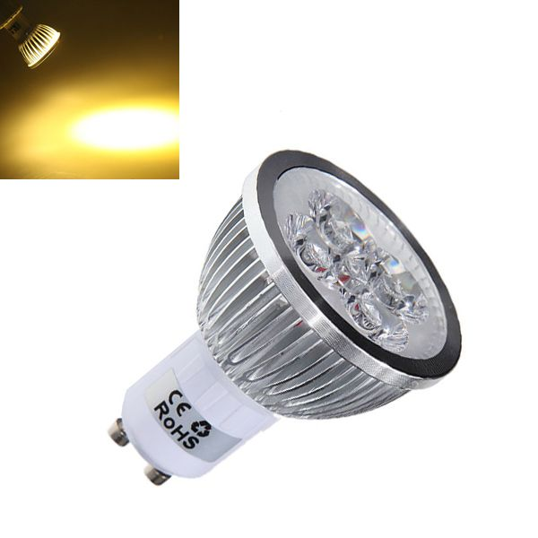 Dimmable GU10 4W 4LED Warm White Light LED Spot Bulb 220V