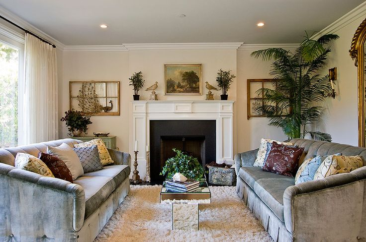 I love the textures, symmetry and LIFE in this staged space!
