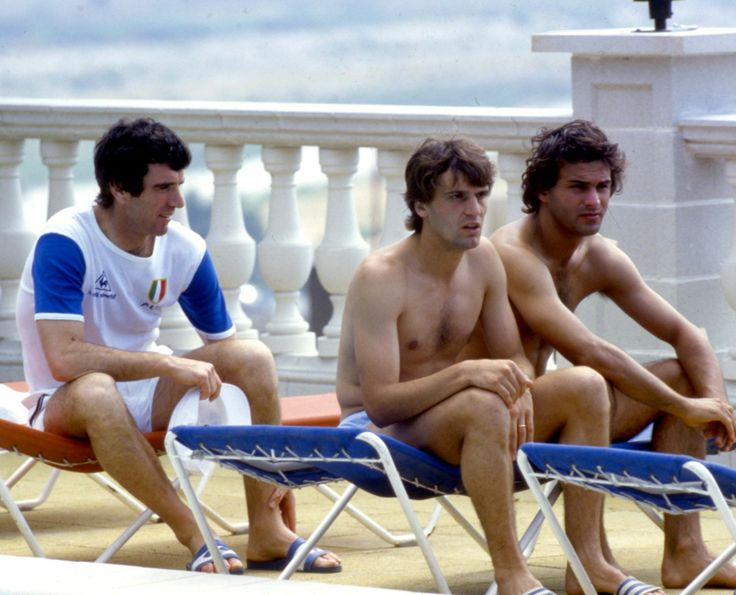 Dino Zoff, Marco Tardelli et Antonio Cabrini 1982