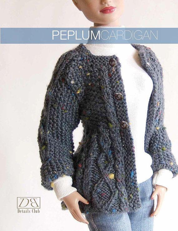 Knitting pattern for 16 inch fashion dolls by DBDollPatterns, $8.00