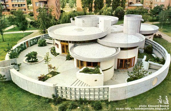 Clamart - Cité de la plaine - La Petite Bibliothèque Ronde, 1965