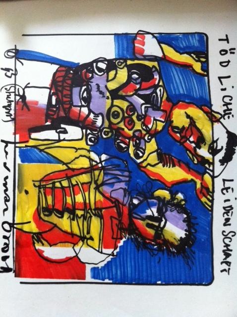 Originele tekening 'Todliche Leidenschaft' - Kunst Voor Kunst - powered by 123webshop.nl