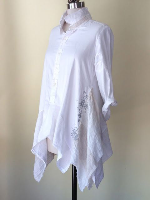 Refashioned Men's shirt - this is absolutely beautiful