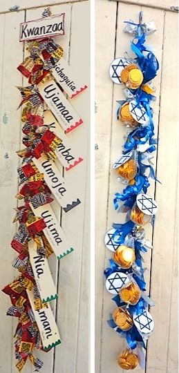 kwanzaa hanukkah calendars #budgettravel #travel #diy #craft #holiday #holidays #Thanksgiving #Halloween #Christmas #Hanukkah #Chanukah #Eid #Kwanzaa #winter www.budgettravel.com