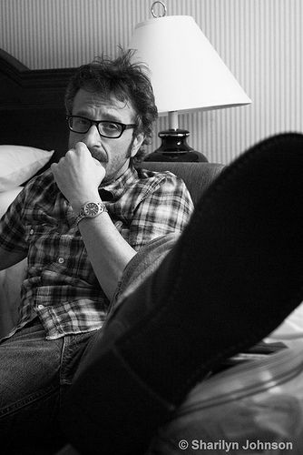 Marc Maron - taken by yours truly at the Strathcona Hotel, Toronto, May 2010.